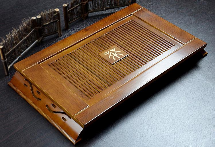 Kong Ming Tea Tray Chinese Wood Tea Tray Displaying And Serveing Tea Chinese Kung-Fu Tea Set Chinese Teaism Practice.