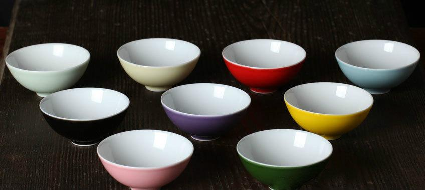 7 Handmade Color Glaze Porcelain Tea Bowls Chinese Color Glaze Porcelain Tea Set Chinese Style Ceramic Teaware
