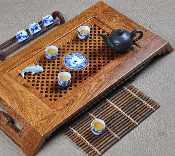 Ambila-Wood Tea Tray Displaying And Serveing Tea Tea Tray Handicraft Chinese Congou Tea Set Chinese Teaism Practice.