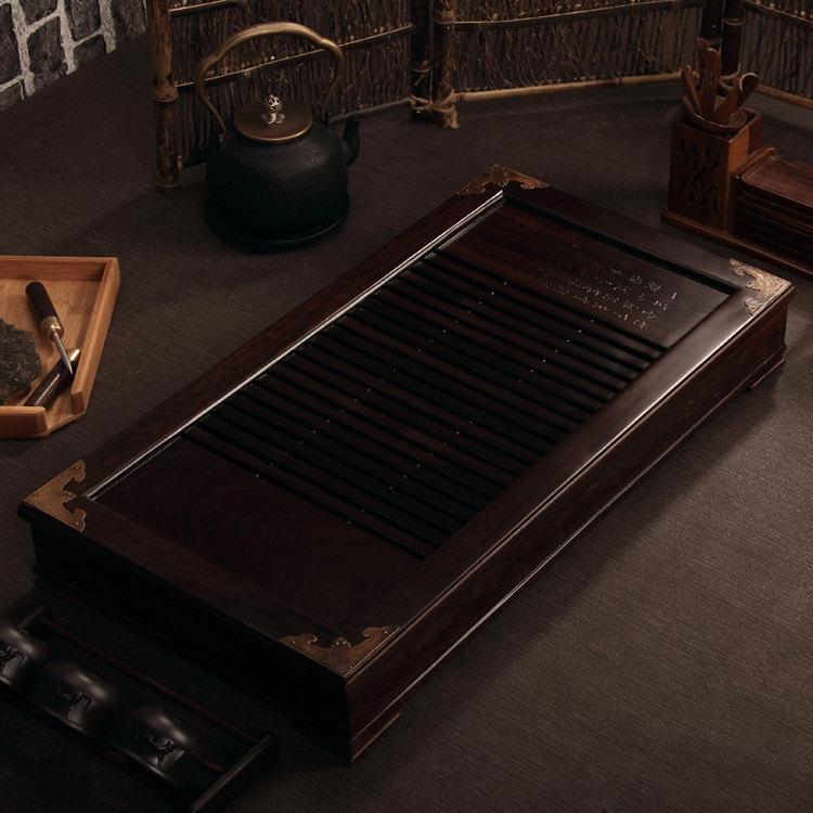 Macassar Ebony Tea Tray Displaying And Serveing Tea Tea Tray Handicraft Chinese Kung-Fu Tea Set Chinese Teaism Practice.