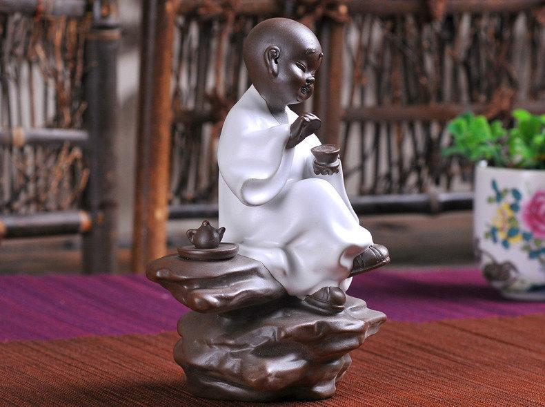 2 Tea Toy-Zen Monk Chinese Gongfu Tea Set Yixing Pottery Handmade Zisha Tea Set Guaranteed 100%Genuine Original Mineral Fired