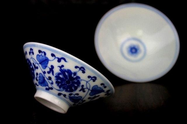 2 Hand-Painting And Handmade Blue And White Porcelain Imperial Style Tea Cups Chinese Style Ceramic Teaware