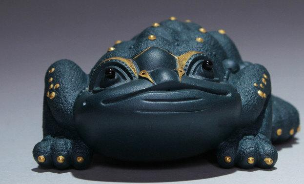 Glod Toad Chinese Gongfu Tea Set Yixing Pottery Handmade Zisha Tea Set Guaranteed 100%Genuine Original Mineral Fired