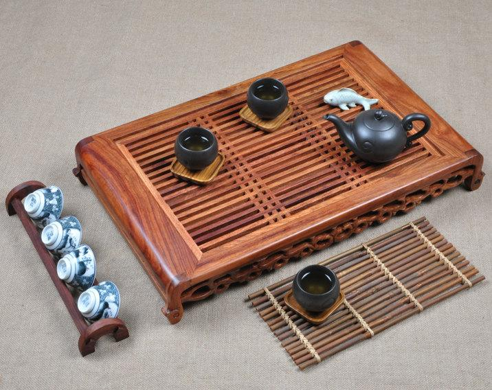 Rosewood Tea Tray Displaying And Serveing Tea Tea Tray Handicraft Chinese Kung-Fu Tea Set Chinese Teaism Practice
