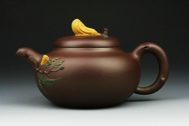 Fo-Shou Teapot Premium And Treasure Yixing Zisha Pottery Handmade Zisha Clay Teapot Guaranteed 100%Genuine Original Mineral Fired