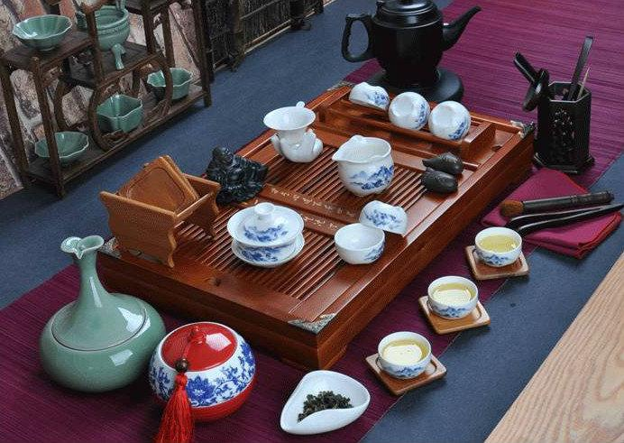 Solid Wood Tea Tray Displaying And Serveing Tea Tea Tray Handicraft Chinese Congou Tea Set Chinese Teaism Practice.