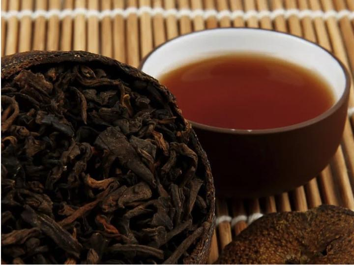 Orange Pu Erh Tea The Pu Er Brick Tea With Citrus