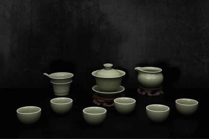 A Complete Set Of Portable Celadon Porcelain Tea Sets Premium And Treasure Tea Pot Experence China Tea Ceremony